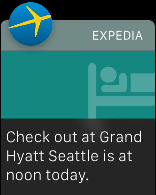 Expedia For Apple Watch