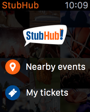 StubHub - Apple Watch App for Tickets | Watchaware
