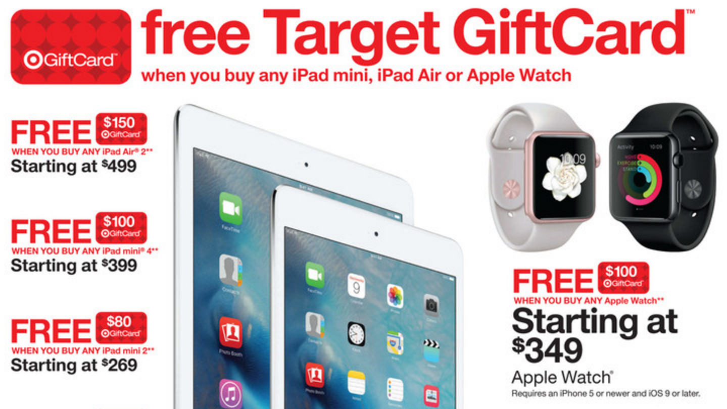 Target Offering $100 Store Gift Card with Purchase of Apple
