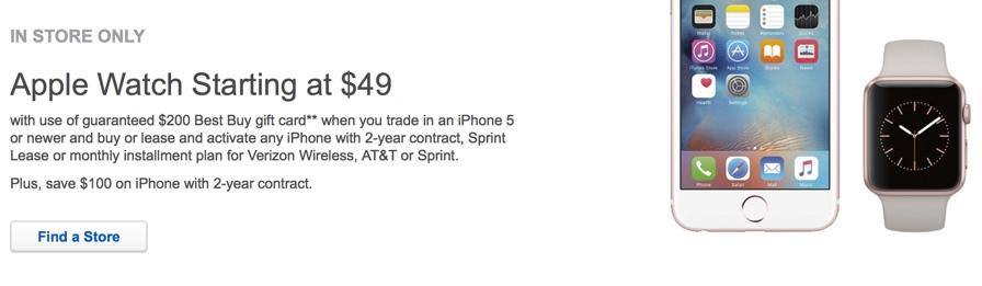 Best Buy's $50 Apple Watch