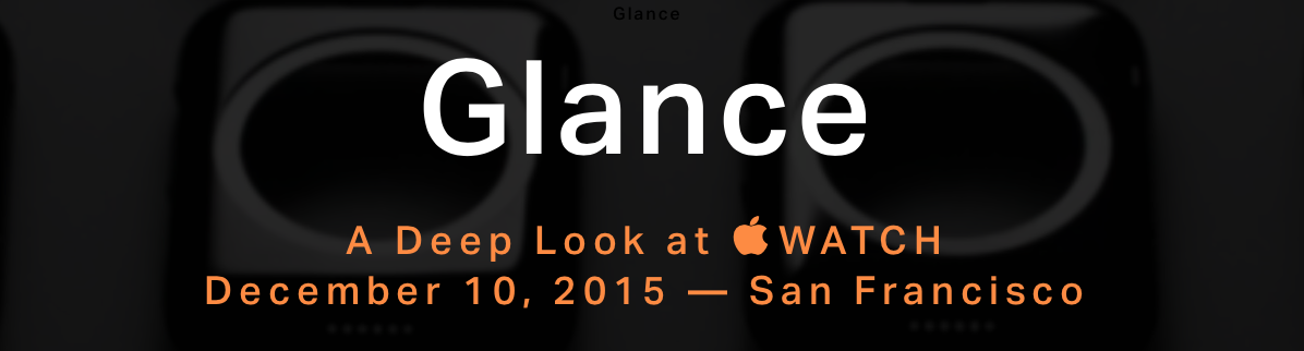 Glance: World's First Apple Watch Conference Underway