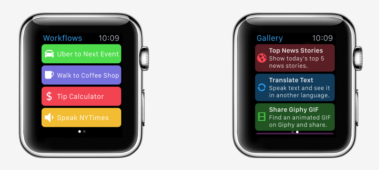 Workflow for Apple Watch lets users truly automate watchOS