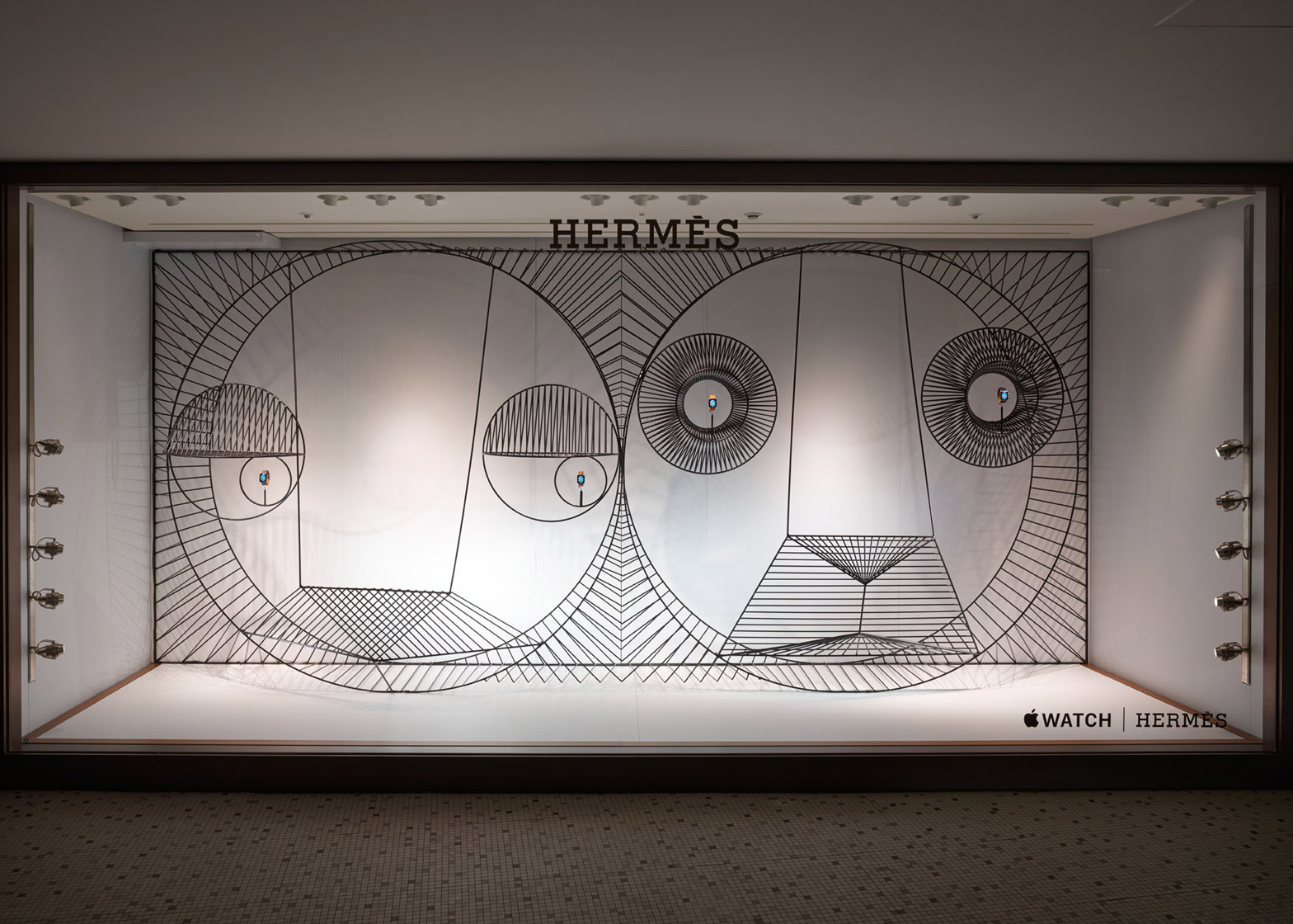 GamFratesi Designs Beautiful Animal Inspired Apple Watch Window Display for Hermés