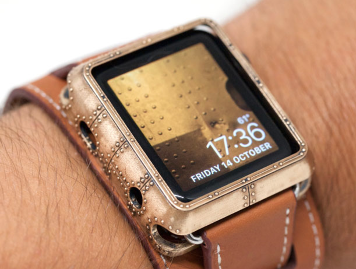 Artist Creates Cool Steampunk Apple Watch Case Modeled After Ironclad Ships