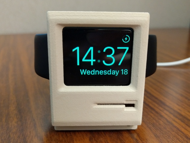 Create Your Own Vintage Mac Charging Stand for Apple Watch