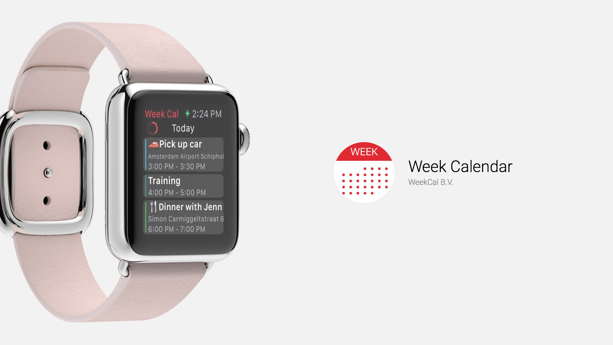 Week Calendar Offers More Features Than Stock Calendar App