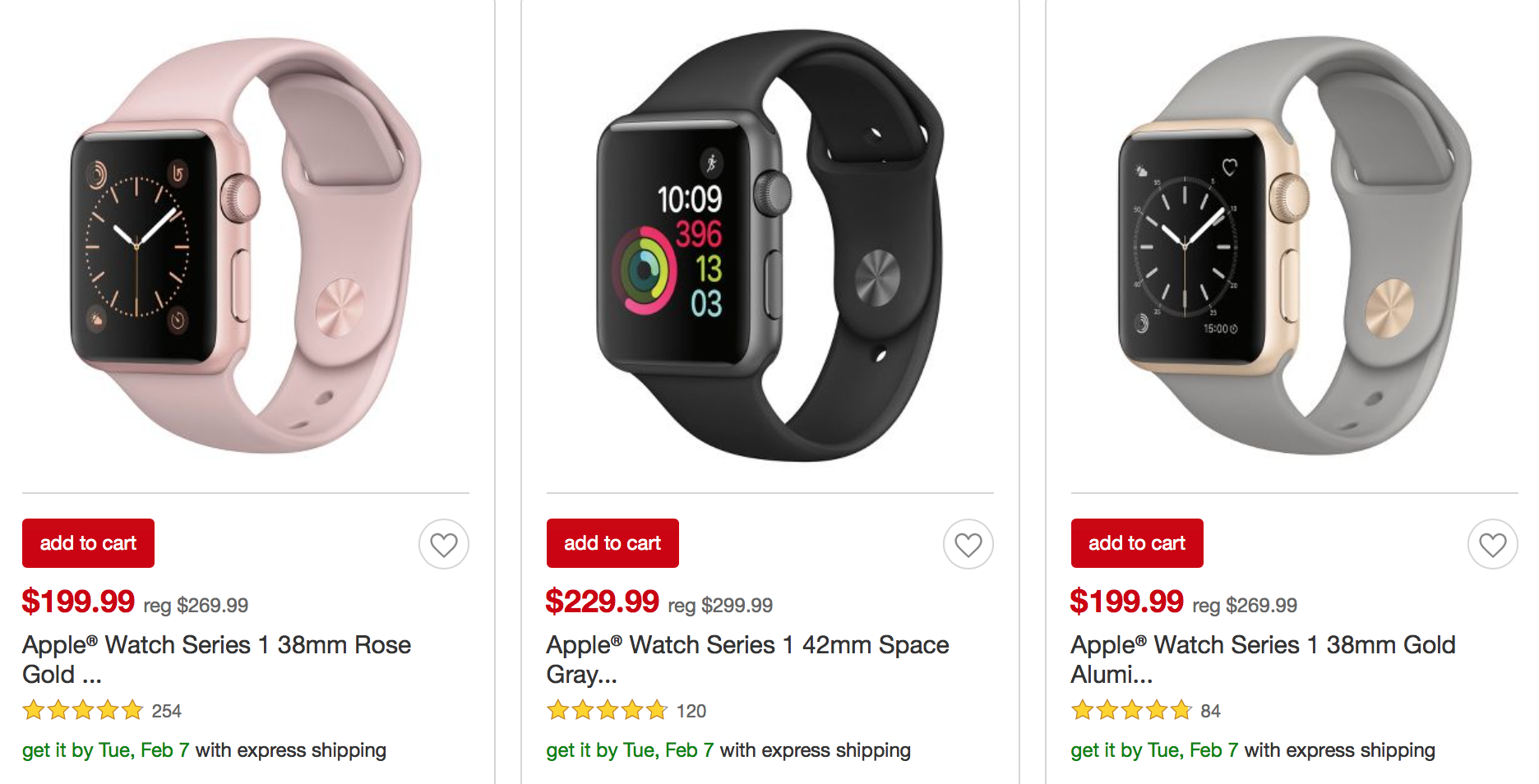 Sweetheart Apple Watch Series 1 Deal at Target