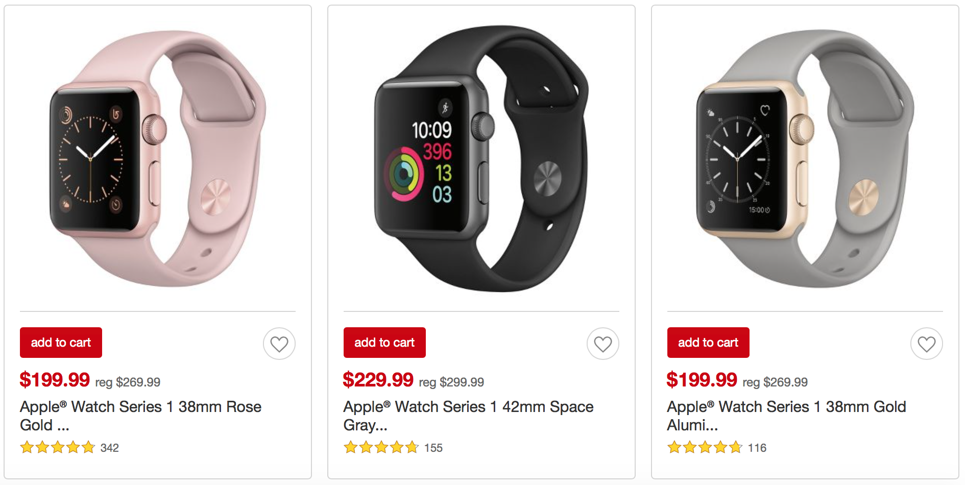 Get $70 Off Apple Watch Series 1 Now at Target