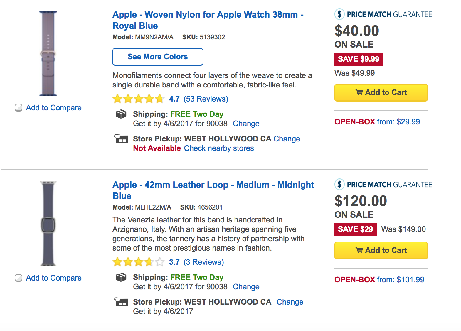 Apple Watch Band Sale at Best Buy Today | Watchaware