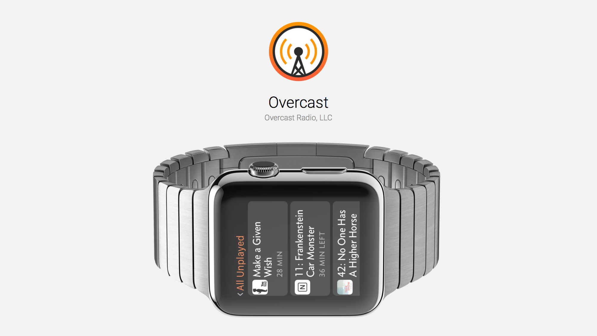 Overcast Update Features Standalone Apple Watch Playback