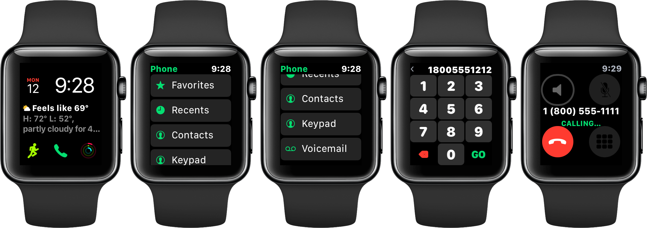 Phone Keypad is Coming to the Apple Watch in watchOS 4