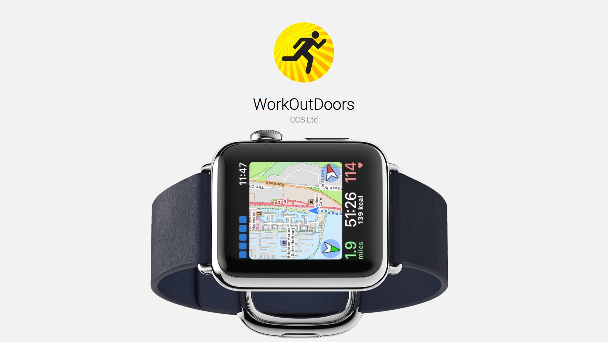 Maps on Apple Watch Are Better With WorkOutDoors