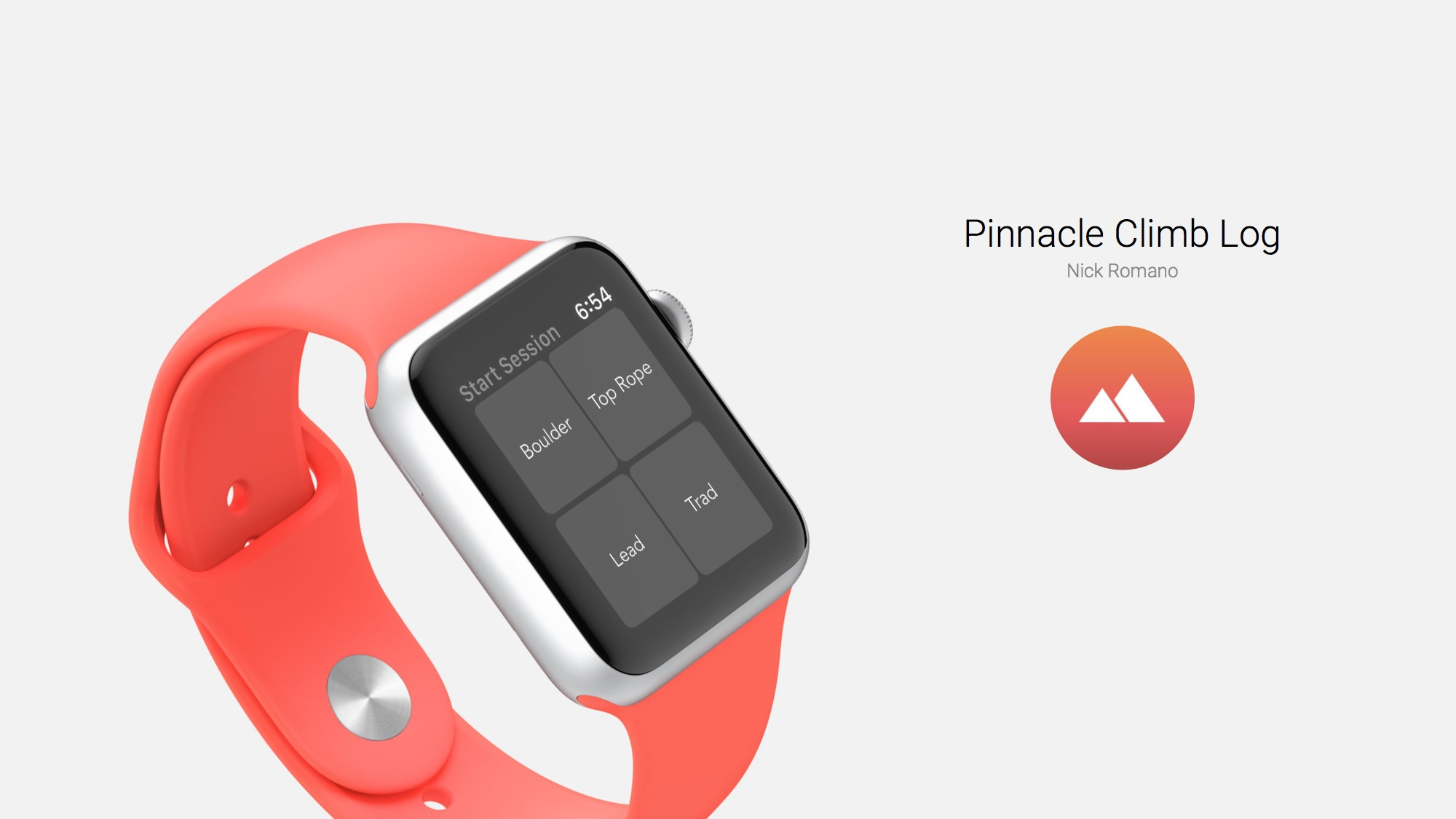 Pinnacle Climb Log: a Rock Climbing App for Apple Watch