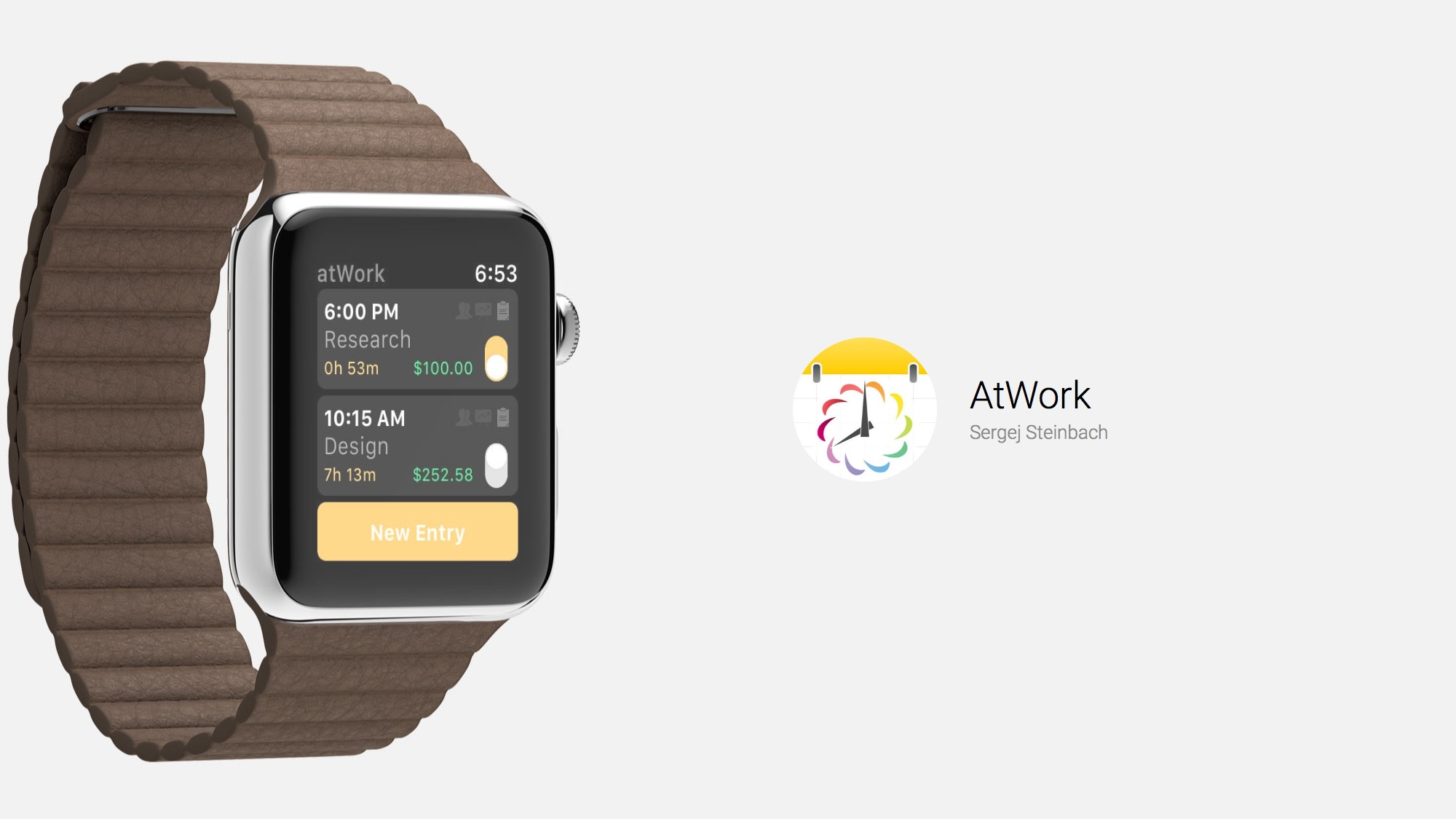 productivity and time tracking on apple watch with atwork watchaware
