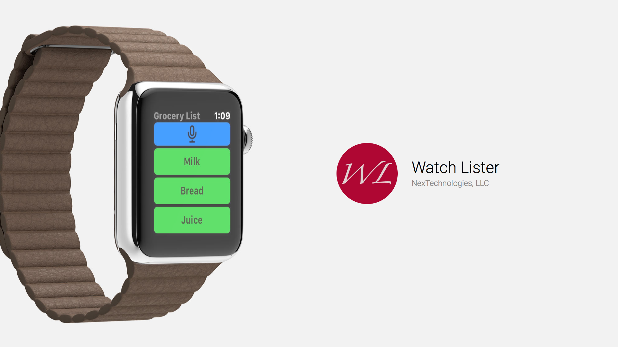 With Watch Lister, Creating Lists on Your Wrist is Easy
