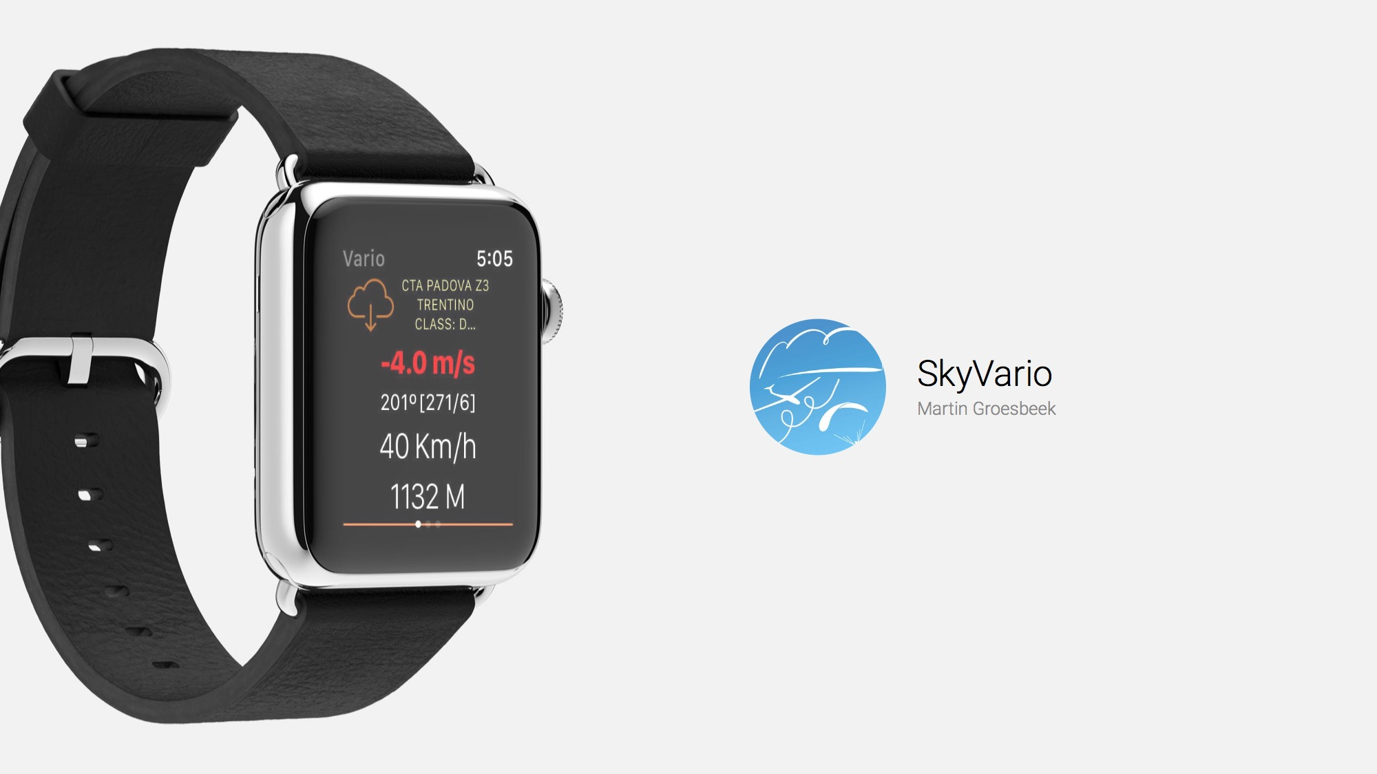 Have a Variometer on Apple Watch with skyVario