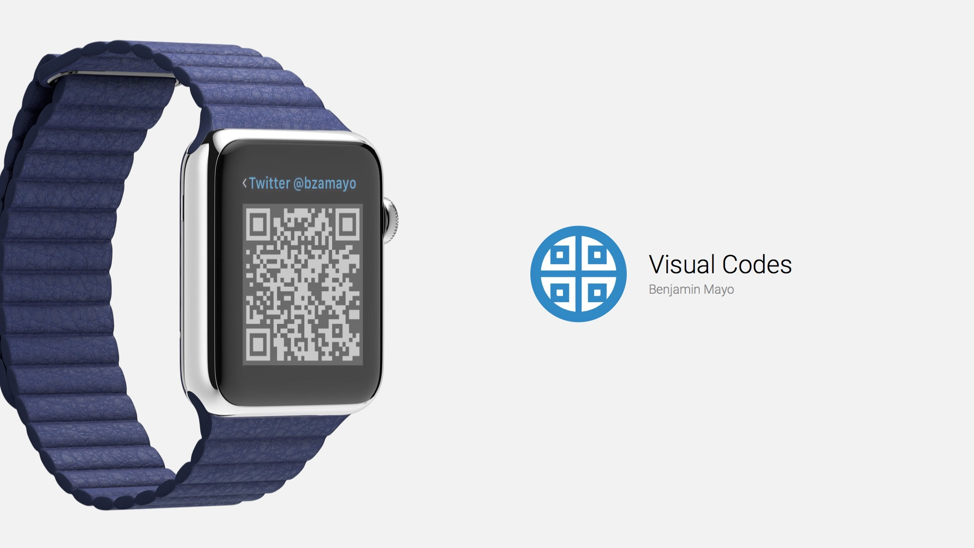 Visual Codes Puts Your QR Codes on Apple Watch