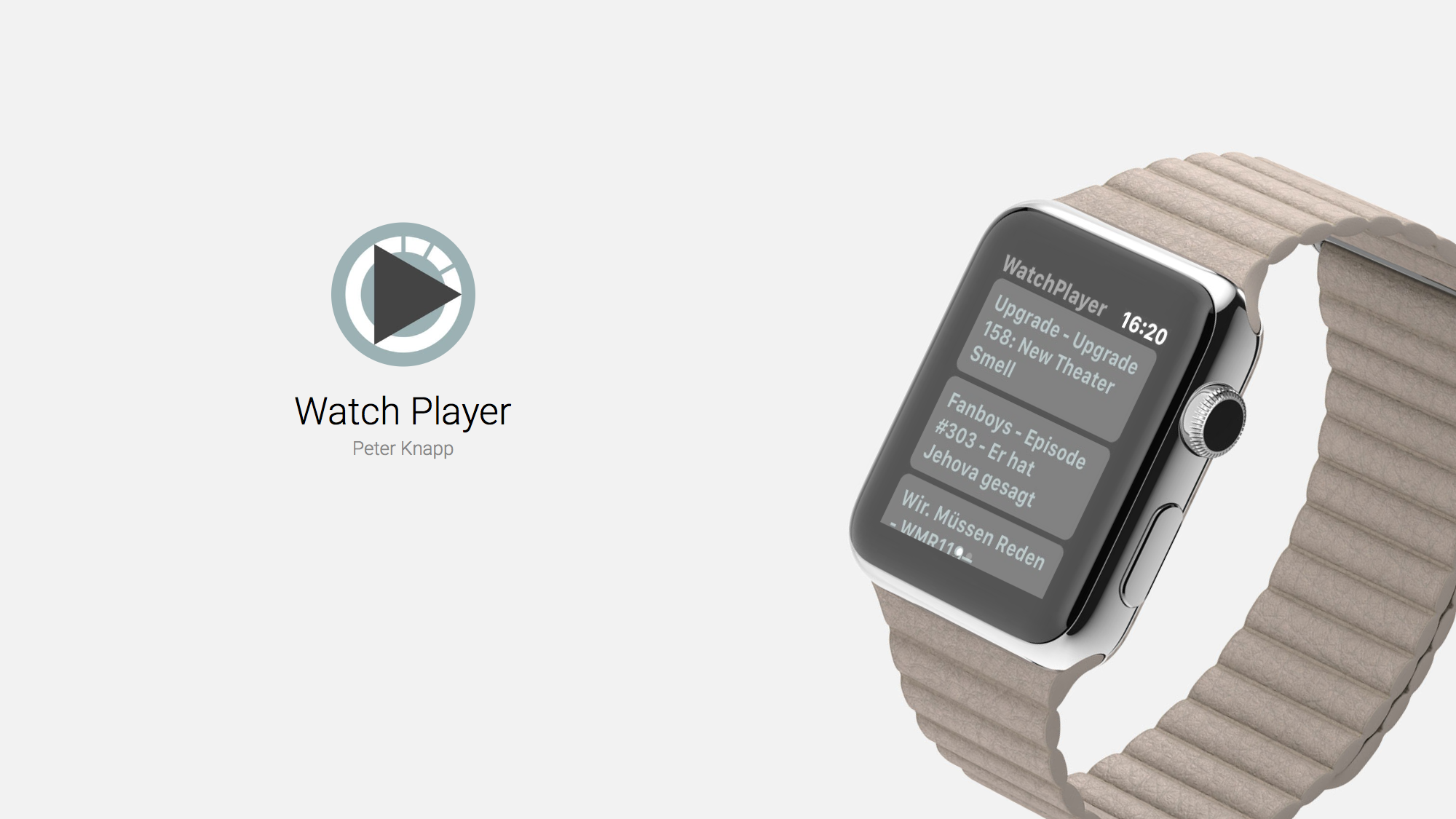 Watch Player Plays Podcasts Straight From Apple Watch