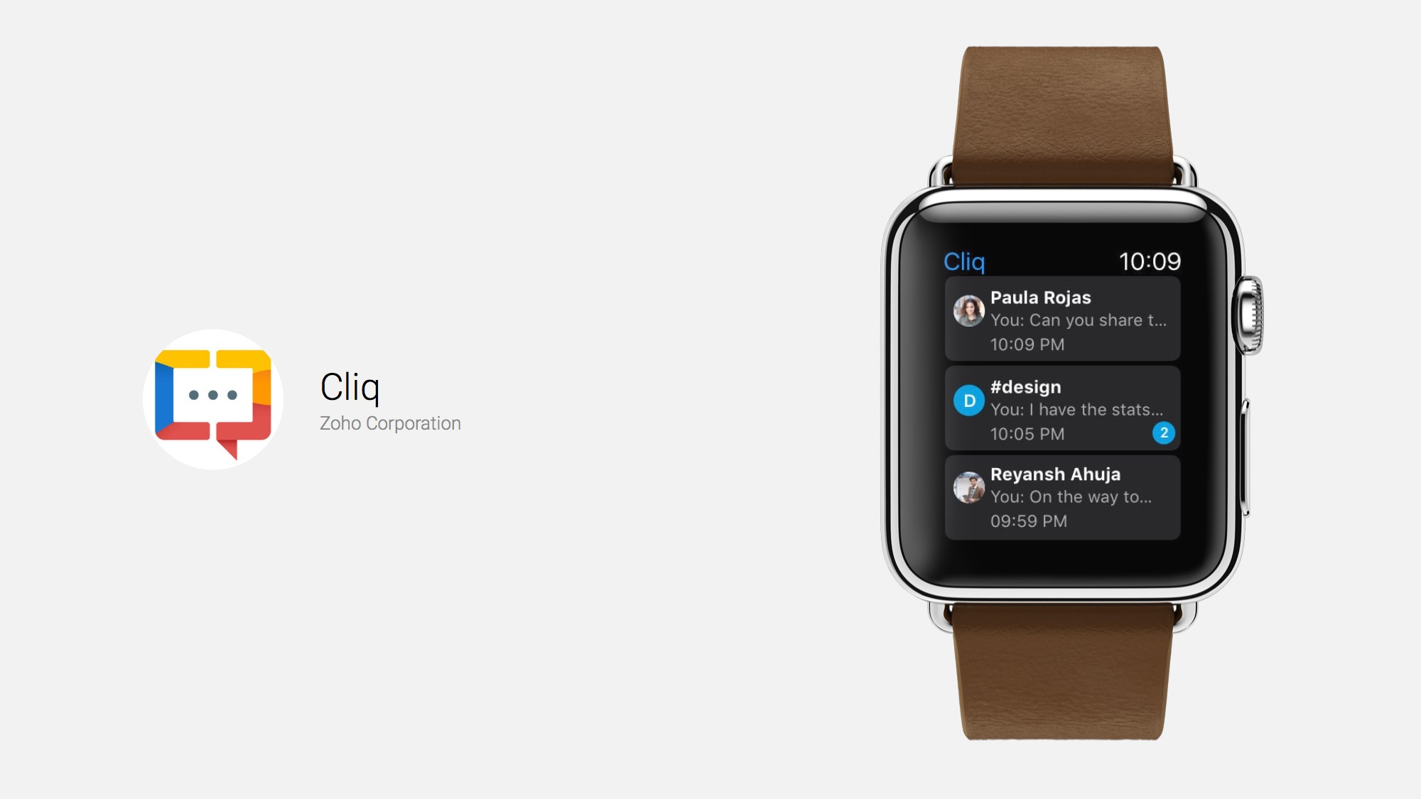 Cliq Apple Watch-Style With Colleagues and Teammates
